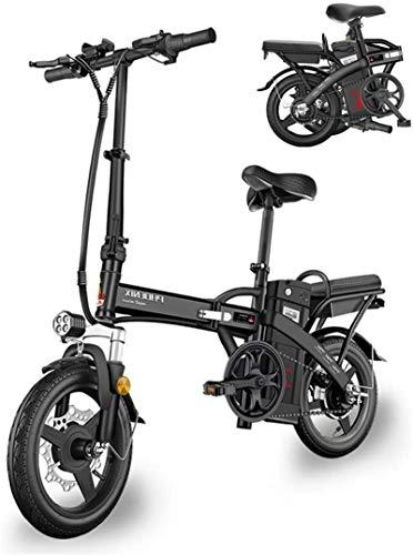 Bicicleta de montaña eléctrica, Bicicleta eléctrica inteligente de bicicletas de montaña for adultos plegable Bicicletas E E-bici 48V10AH de iones de litio bateador 3 Montar Modos de 400W Velocidad má