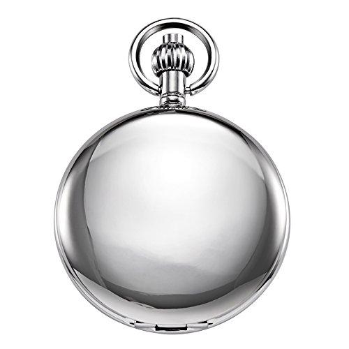 Reloj de bolsillo unisex Treeweto con cadena, analógico,