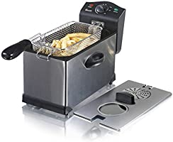 Swan 3L Stainless Steel Deep Fat Fryer with Viewing Window and Safety Cut Out, Non-Slip, Easy Clean and Adjustable...