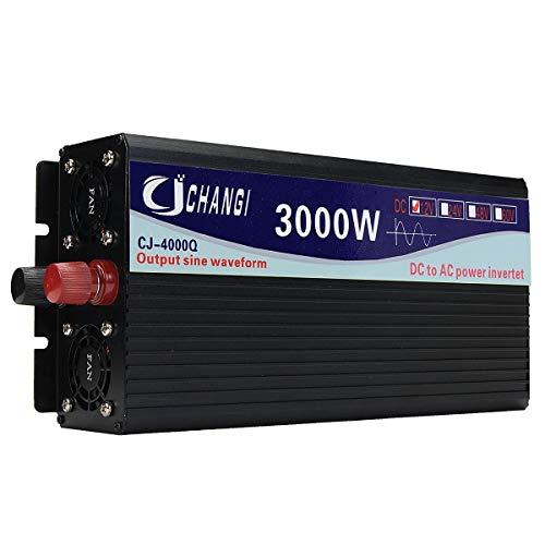 N\A Coche inversor de energía 12V / 24V A 110V 3000W / 4000W / 5000W / 6000W convertidor de energía Solar Inteligente de Onda sinusoidal Pura (Watt: : 12V 3000W)
