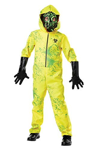 Kids Zombie Hazmat Costume Suit Resident Evil Halloween Cosplay Outbreak Horror Jumpsuit