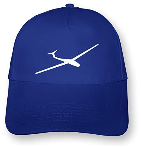 Samunshi® Segelflieger Kappe Segelflugzeug 5 Panel Cap OneSize royal blau/weiß