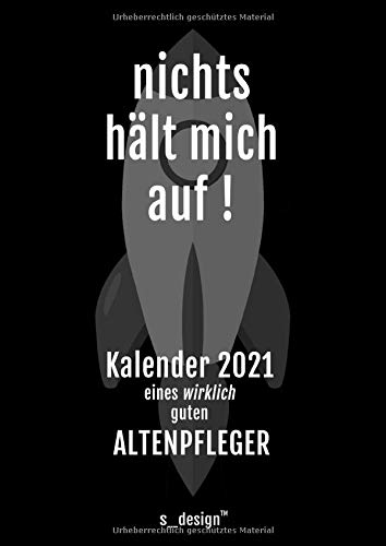 Kalender 2021 für Altenpfleger: DIN A4 Tagesplaner / Wochenplaner / Terminkalender für das ganze Jahr: Termin-Planer / Termin-Buch / Journal für alle ... von 7 bis 21 Uhr (4 Termine pro Stunde)