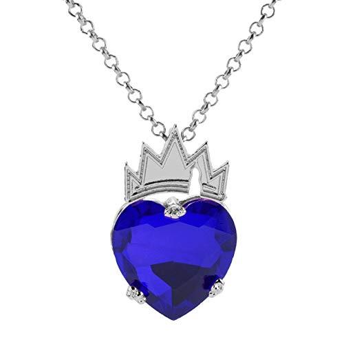 NanYangLinYiZuanJingGongChengGongSi Descendientes movimiento temático de color rojo oscuro de cristal azul del amante de las mujeres de regalo del metal de la corona Collares for niñas Novelty necklac
