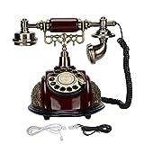 Gaeirt Teléfono Vintage, Teléfono Vintage Retro de Estilo Europeo de Línea Fija para Regalo