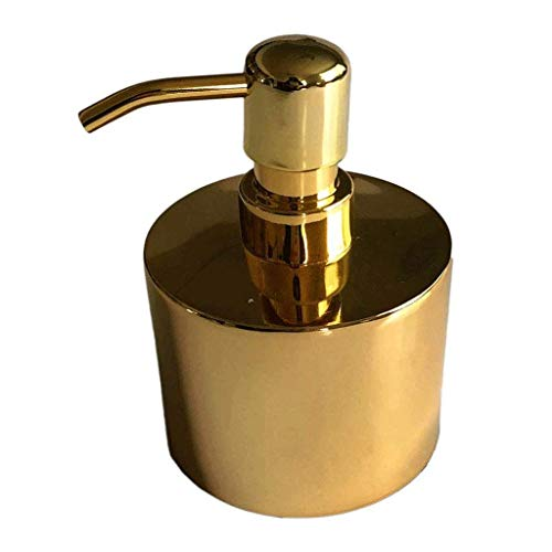 Household Dispensador de Jabón Moderna de oro redondo Loción botella pequeña botella de metal líquido recargable jabón de la mano dispensador de la bomba de Cocina Baño Jabón Jabonera Hand Sanitizer a