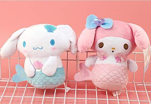 changshuo Juguete de Peluche 2 Piezas De Dibujos Animados My Melody Dog Cosplay Mermaid Stuffed Plush Toys Brinquedos Juguetes