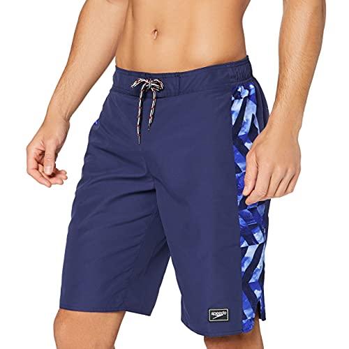 Speedo Sunrise Water Shorts para Hombre, Hombre, Bañador Corto, 811836C834, Azul Marino/Chroma Azul/Blanco, XS