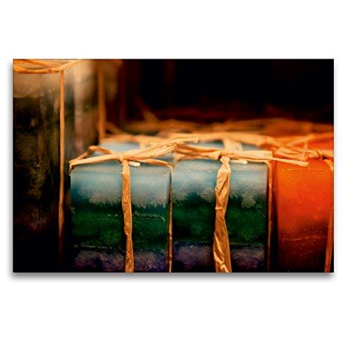 CALVENDO Premium Textil-Leinwand 120 cm x 80 cm quer EIN Motiv aus dem Kalender Christmas Geschichten aus Bremen Weihnachtsmarkt | Wandbild, Bild auf Leinwand, Leinwanddruck Orte Orte