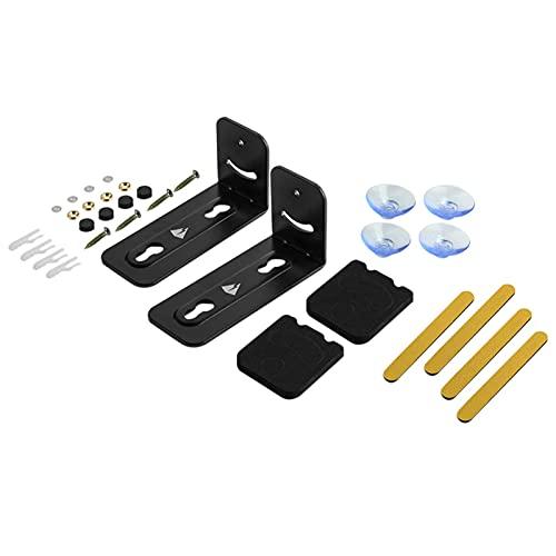 Cyhamse Soportes para SoundBar, Soporte De Pared Universal para Barra De Sonido, Kit De Soporte De Montaje En Pared De Metal, para La Mayoría De Las Barras De Sonido, 120 X 50 X 60 Mm