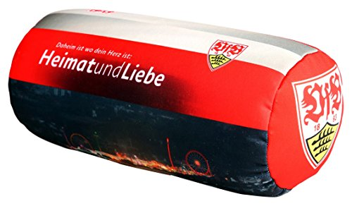 MarkenMerch Reisekissen VfB Stuttgart, 35 cm, Schwarz/Weiß/Rot Stadion Mit Logo