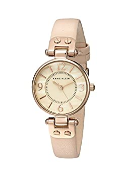 Anne Klein Women s 10/9442RGLP Rose Gold-Tone Watch with Leather Band