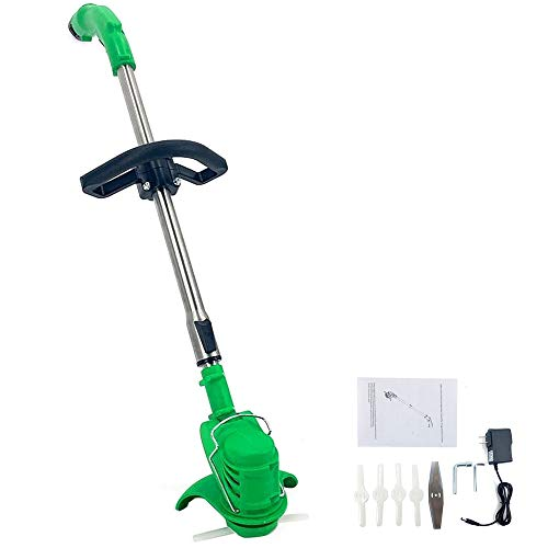 Great Features Of Cozyel 12 Cordless String Trimmer & Wheeled Edger, Handheld Trimmer, Grass Shear ...