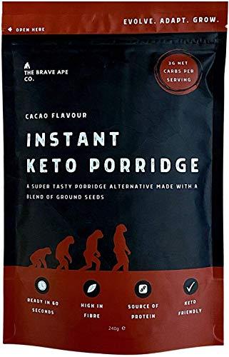The Brave Ape – Keto Cacao Porridge – Ketogeen Ontbijt met natuurlijke ingrediënten – Low Carb – Keto Dieet – Zonder…