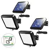 Solarlampen für Außen, [2 Stück] 56 LEDs Solarleuchten 120° Superhelle Solar Wandleuchte mit Bewegungsmelder, IP65 Wasserdichte Garten Sicherheitswandleuchte mit 5m Kabel