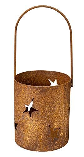 Manufaktur-Lichtbogen Rost Windlicht Sterne zum aufhängen Edelrost Leuchter mit Henkel aus Metall