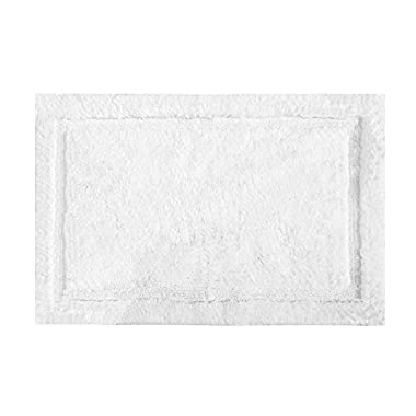 Grund Certified 100% Organic Cotton Bath Rug, Non Slip, Asheville Series, 17-Inch by 24-Inch, White