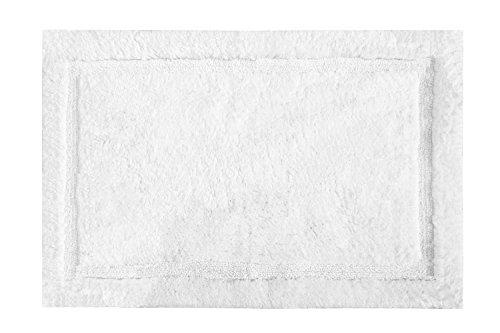 Grund Asheville Series 100% Organic Cotton Bath Rug, 17-Inch by 24-Inch, White