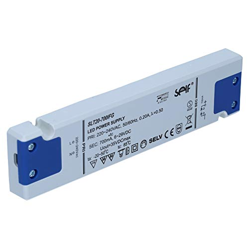 LED Netzteil Trafo Self SLT20-700IFG Schaltnetzteile 6V - 29V / 700mA 20W flacher dünner Transformator Beleuchtung