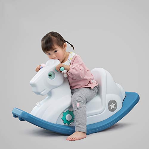 Best Buy! Kibten Baby Rocking Horse Plastic Children Traditional Toy Toddler Ride on Toy Kid Rocking...