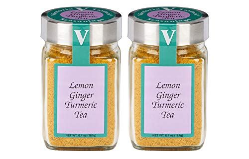 Lemon Ginger Turmeric Tea- Two 6.4 oz. Jars