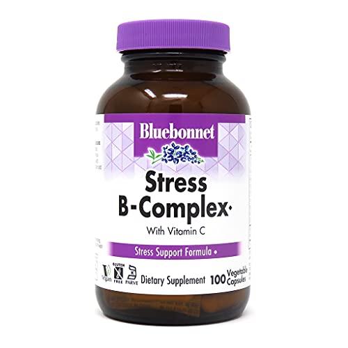 Bluebonnet Nutrition - Potência alta do complexo de stress B - 100 Cápsulas vegetarianas