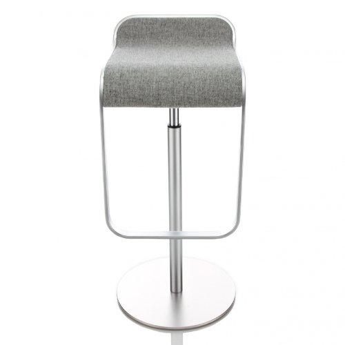 lapalma Lem S80 66-79 Barhocker Gestell Chrom matt, grau Textil Hallingdal 130 Gestell matt verchromt Sitzfläche gepolstert höhenverstellbar von 66 bis 79 cm