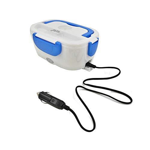 Fiambrera eléctrica portátil de calefacción eléctrica para el almuerzo, recipiente de alimentos de grado alimenticio, calentador de alimentos para niños, 4 hebillas