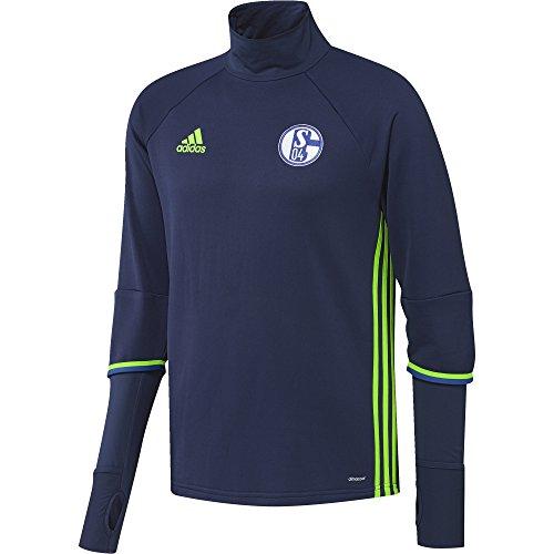 adidas Herren Schalke 04 Trainings Shirt oberteil T, Dark Blue/Solar Green, S