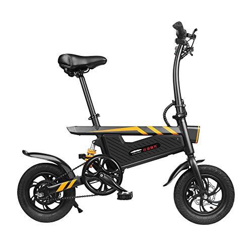 Alittly Vélo électrique Pliant Urbain Mini Scooter Véhicule électrique Léger Batterie Lithium 36v Ip54 Vitesse Max 25 Kmh Noir Eu Stock