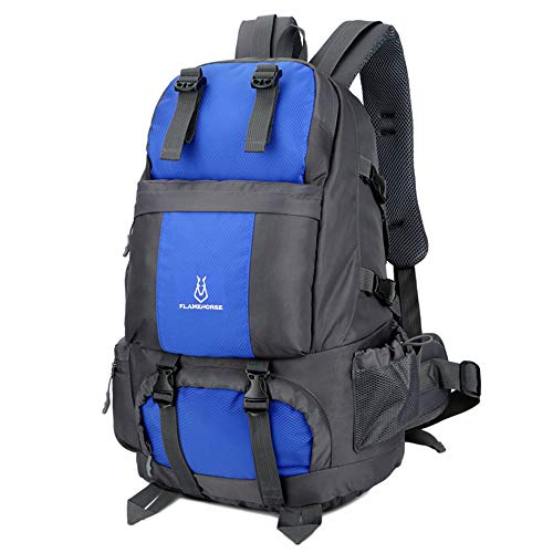 Lixada Mochila de Senderismo 50L Impermeable Mochila de Viaje con Compartimiento de Zapatos para Escalada Camping Montañismo