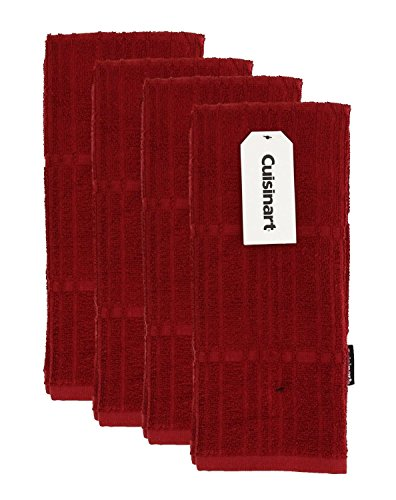 Cuisinart Bamboo Kitchen, Hand and Dish Towels - Absorbent, Light-Weight, Soft and Anti-Microbial-Dry Hands and Dishes-Premium Bamboo/Cotton Blend