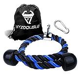 XYZDOUBLE Cuerda Tríceps Accesorio para Cable de TraccióN hacia Abajo con Tríceps y BíCeps Multi Gym Nylon Manijas Antideslizantes - Dorsal, Biceps, Triceps, Gimnasio o Hogar-Rojo 70cm