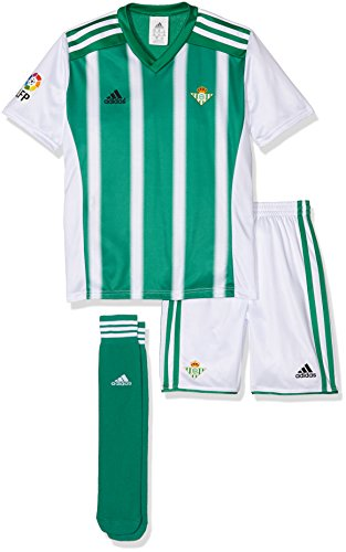 adidas Kinder Trainingsanzug Betis H Minikit, Grün/Weiß, 152
