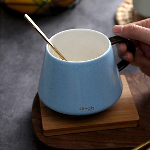 GAOYANG Kaffeetasse Kreative Milch Tasse Keramik Bedeckt Löffel Büro Paar Tasse Haushalt Becher