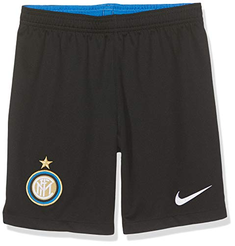 Inter 2019/20 Stadium Home/Away, Pantaloncini da Calcio Unisex Bambini, Nero (Black/White), M
