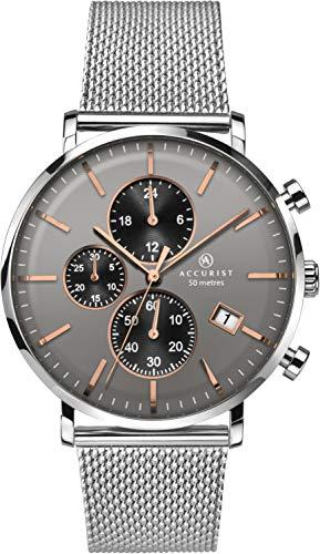 Accurist Herren Chronograph Quarz Uhr mit Edelstahl Armband 7187