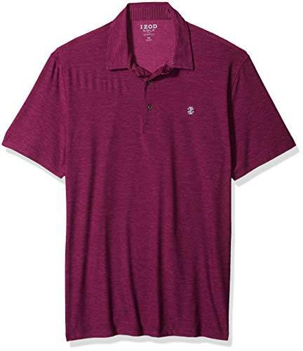IZOD Men's Big Golf Title Holder Short Sleeve Solid Polo, Nautical, Large Tall