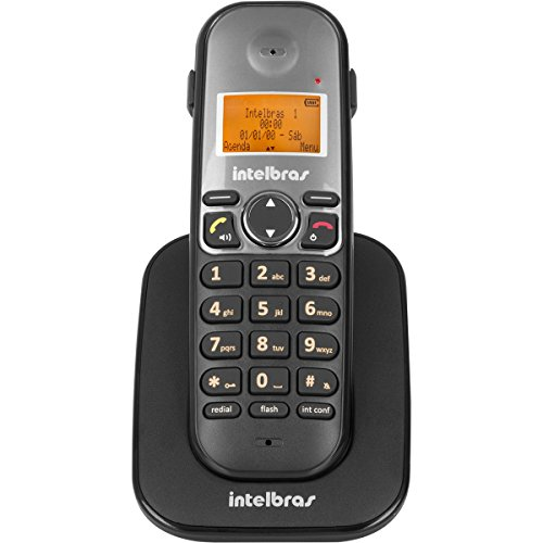 RAMAL TELEFONE SEM FIO, intelbras, TS 5121, PRETO