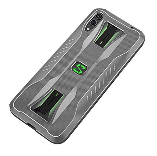 NOKOER Hülle für Xiaomi Black Shark 2 Pro, TPU-Material Weich Superdünn Hülle, Slim Fit Wärmeableitung Handyhülle [Abriebfest] [rutschfest] - Gray