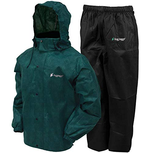 Frogg Toggs All Sport Rain Suit, Green and Black Color, Size Medium