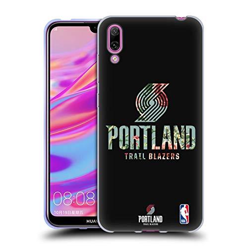 Officiële NBA Bloemen 2019/20 Portland Trail Blazers Soft Gel Case Compatibel voor Huawei Enjoy 9 (2018)