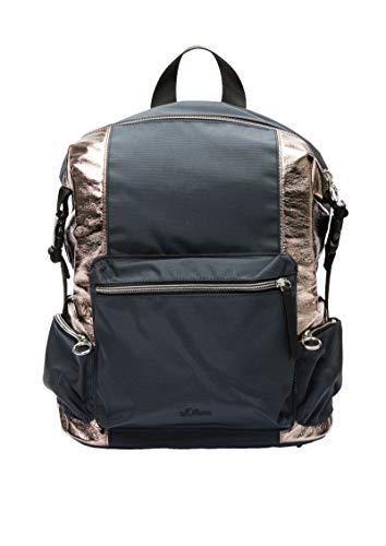 s.Oliver Damen 39.002.94.3713 Tasche Rucksackhandtasche Grau (Grey/Black)