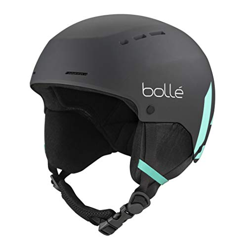 Bollé Unisex– Babys Quiz Skihelme, Black Green Matte, 52-55 cm