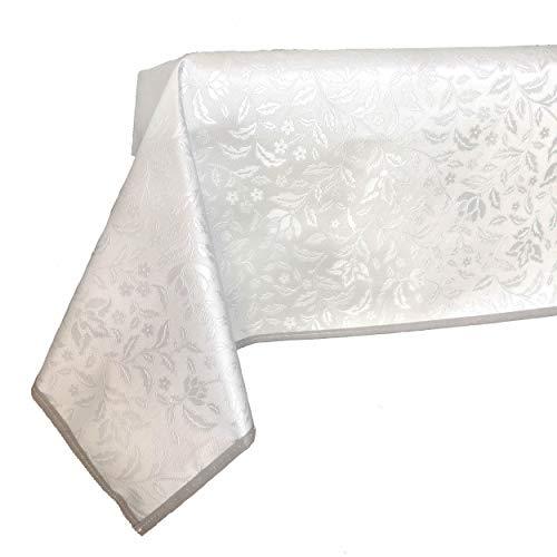 FALA BRAND Mantel De Mesa Plastificado Rectangular Y Cuadrado Resistente A Las Manchas - Mantel De PVC En Diferentes Patrones Y Tamaños para Decoraciones De Hogar Y Jardín, De Fiestas Y Navidad