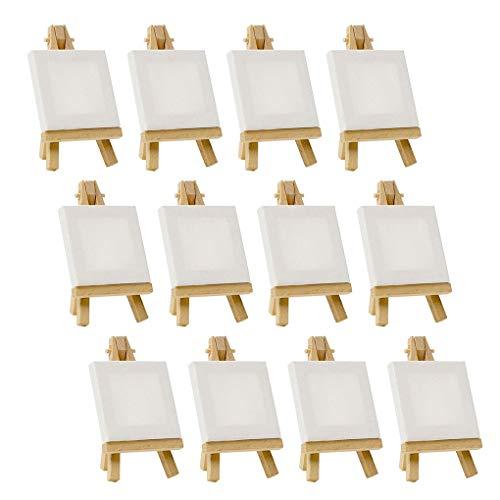 rongweiwang 5 Set Mini Blank Canvas Peinture Peinture Acrylique Chevalet d'art Forains Papeterie Cadeaux Enfants