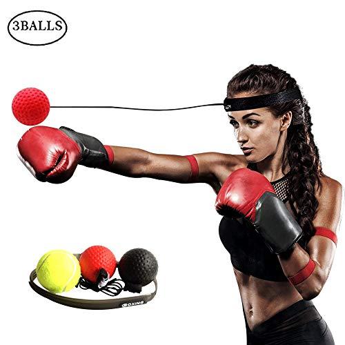 Alomejor Boxing Fight Ball Boxing Reflex Ball en String Fight Ball Diadema para Entrenamiento de coordinaci/ón Mano-Ojo