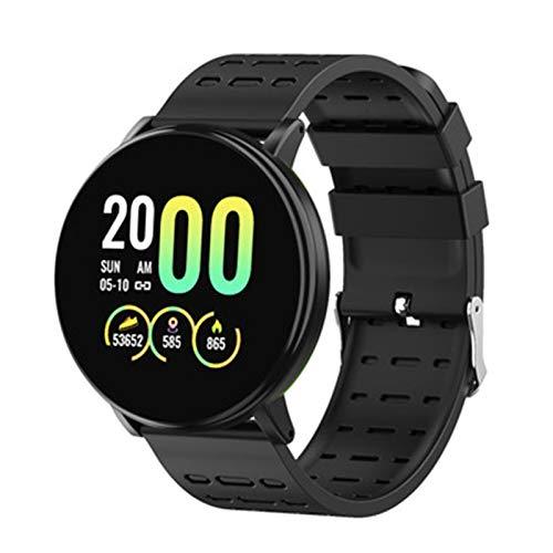 LZXMXR Reloj inteligente, deportivo IP68 resistente al agua de 1.75 pulgadas con pantalla táctil para hombres y mujeres, reloj inteligente para iOS Android (color: negro negro)