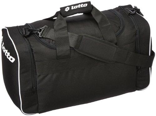 Lotto Sport, Borsa Uomo Bag Thunder M, Nero (Black/White), 1