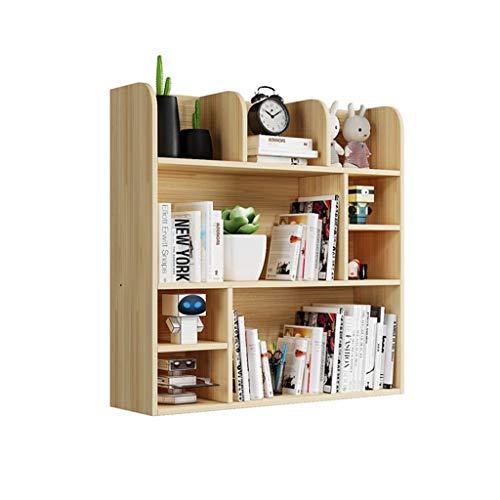 Librería Estantería El estante de almacenamiento de madera de escritorio de estantería de múltiples capas simple puede almacenar libros / efectos de escritorio / almacenamiento de múltiples funciones